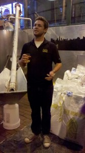 Brad giving us a brewery tour