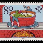German postage stamp celebrating the Reinheitsgebot