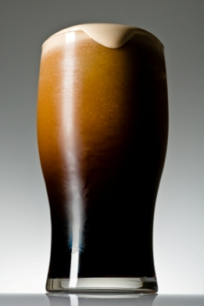 Glass of stout beer