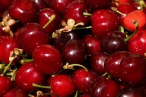 tart cherries in a pile