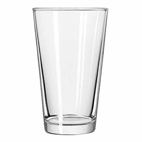 empty shaker pint beer glass