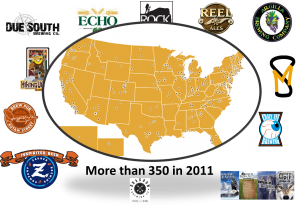 U.S. Beer Blogging Slide 4: A sense of the proliferation of craft brewries in the US in the last two years alone