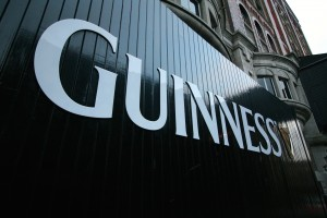 Guinness sign on wall outside Dublin offices